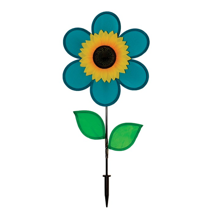 "12"" Sunflower with Leaves - Teal"